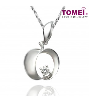 TOMEI 18K White Gold Diamond Pendant (DP0105039)